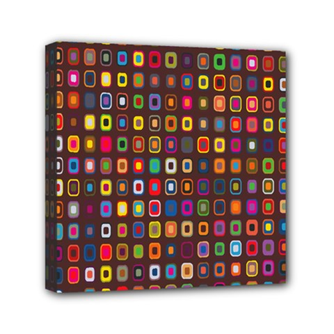 Retro Pattern Mini Canvas 6  X 6