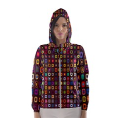 Retro Pattern Hooded Windbreaker (women)