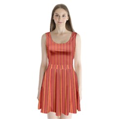 Retro Pattern Texture Fabric Art Material Graphic Textile Split Back Mini Dress