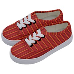 Retro Pattern Texture Fabric Art Material Graphic Textile Kids  Classic Low Top Sneakers by goodart
