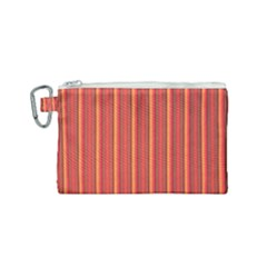 Retro Pattern Texture Fabric Art Material Graphic Textile Canvas Cosmetic Bag (small)