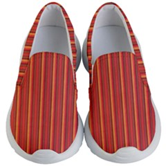 Retro Pattern Texture Fabric Art Material Graphic Textile Kid s Lightweight Slip Ons