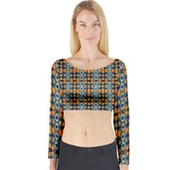 Artwork By Patrick Colorful 2 1 Long Sleeve Crop Top