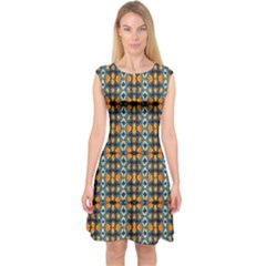 Artwork By Patrick Colorful 2 1 Capsleeve Midi Dress