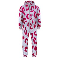 Skin5 White Marble & Pink Leather Hooded Jumpsuit (men)
