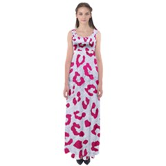Skin5 White Marble & Pink Leather Empire Waist Maxi Dress
