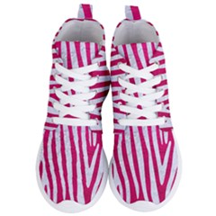 Skin4 White Marble & Pink Leather (r) Women s Lightweight High Top Sneakers