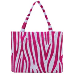 Skin4 White Marble & Pink Leather Mini Tote Bag