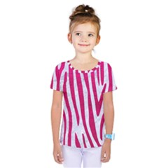 Skin4 White Marble & Pink Leather Kids  One Piece Tee