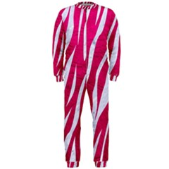 Skin3 White Marble & Pink Leather Onepiece Jumpsuit (men)