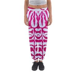 Skin2 White Marble & Pink Leather (r) Women s Jogger Sweatpants