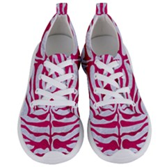 Skin2 White Marble & Pink Leather (r) Women s Lightweight Sports Shoes