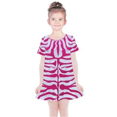 Skin2 White Marble & Pink Leather (r) Kids  Simple Cotton Dress