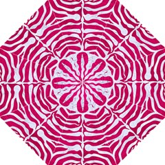 Skin2 White Marble & Pink Leather Folding Umbrellas