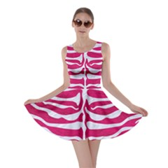 Skin2 White Marble & Pink Leather Skater Dress