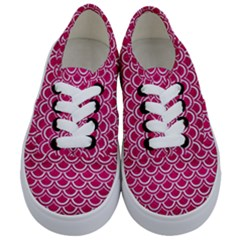 Scales2 White Marble & Pink Leather Kids  Classic Low Top Sneakers