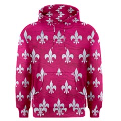 Royal1 White Marble & Pink Leather (r) Men s Pullover Hoodie