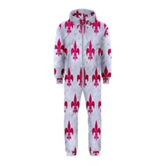 Royal1 White Marble & Pink Leather Hooded Jumpsuit (kids)