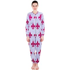 Royal1 White Marble & Pink Leather Onepiece Jumpsuit (ladies)