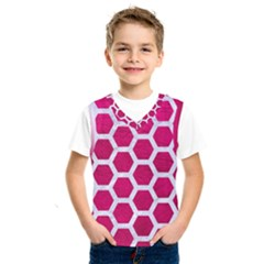 Hexagon2 White Marble & Pink Leather Kids  Sportswear