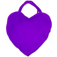 Light Purple Dots Pattern Giant Heart Shaped Tote by LoolyElzayat