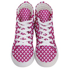 Circles3 White Marble & Pink Leather (r) Men s Hi Top Skate Sneakers
