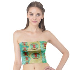 Peace Will Be In Fantasy Flowers With Love Tube Top