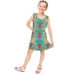 Peace Will Be In Fantasy Flowers With Love Kids  Tunic Dress