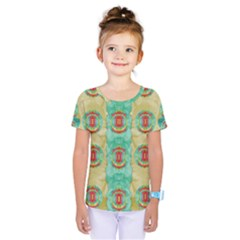 Peace Will Be In Fantasy Flowers With Love Kids  One Piece Tee