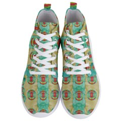 Peace Will Be In Fantasy Flowers With Love Men s Lightweight High Top Sneakers