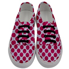 Circles2 White Marble & Pink Leather (r) Men s Classic Low Top Sneakers