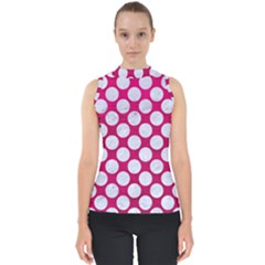 Circles2 White Marble & Pink Leather Shell Top
