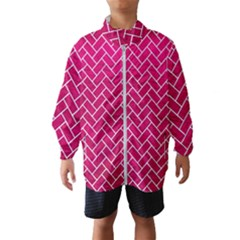Brick2 White Marble & Pink Leather Windbreaker (kids)