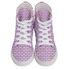 Brick1 White Marble & Pink Leather (r) Men s Hi Top Skate Sneakers