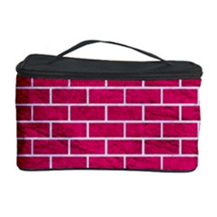 Brick1 White Marble & Pink Leather Cosmetic Storage Case