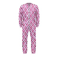Woven2 White Marble & Pink Marble (r) Onepiece Jumpsuit (kids)