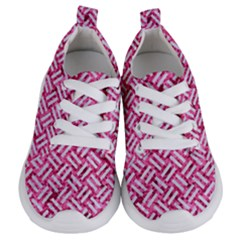 Woven2 White Marble & Pink Marble Kids  Lightweight Sports Shoes