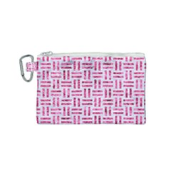 Woven1 White Marble & Pink Marble (r) Canvas Cosmetic Bag (small)