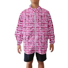 Woven1 White Marble & Pink Marble Windbreaker (kids)
