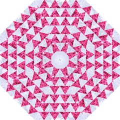 Triangle2 White Marble & Pink Marble Straight Umbrellas