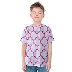 Tile1 White Marble & Pink Marble (r) Kids  Cotton Tee