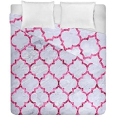 Tile1 White Marble & Pink Marble (r) Duvet Cover Double Side (california King Size)