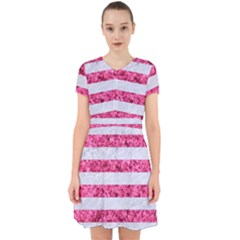 Stripes2white Marble & Pink Marble Adorable In Chiffon Dress