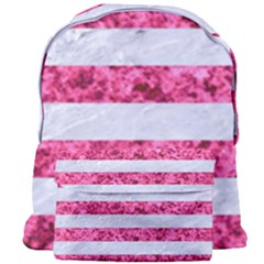 Stripes2white Marble & Pink Marble Giant Full Print Backpack
