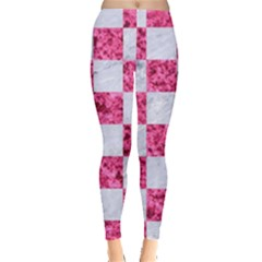 Square1 White Marble & Pink Marble Leggings