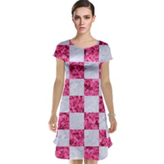 Square1 White Marble & Pink Marble Cap Sleeve Nightdress
