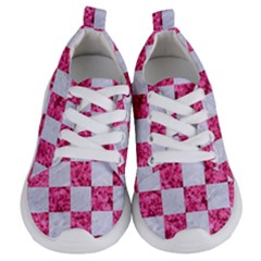 Square1 White Marble & Pink Marble Kids  Lightweight Sports Shoes