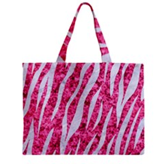 Skin3 White Marble & Pink Marble Zipper Mini Tote Bag by trendistuff