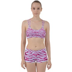 Skin2 White Marble & Pink Marble (r) Women s Sports Set