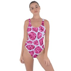 Skin1 White Marble & Pink Marble (r) Bring Sexy Back Swimsuit